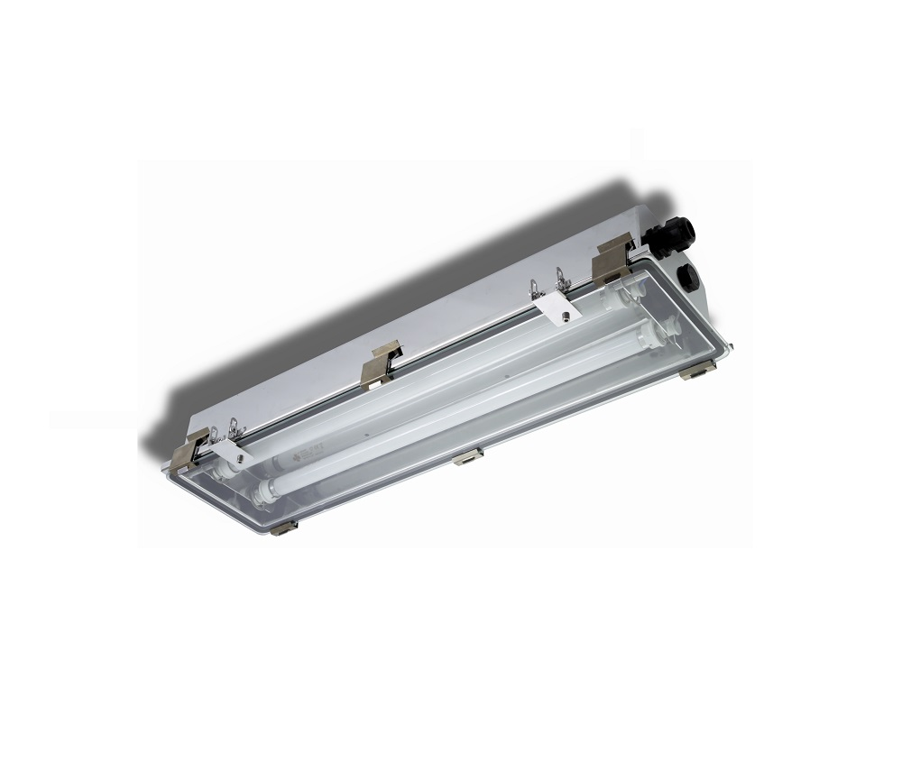 EXEL-VS Lighting fixtures for fluorescent tubes Glass/Stainless ...